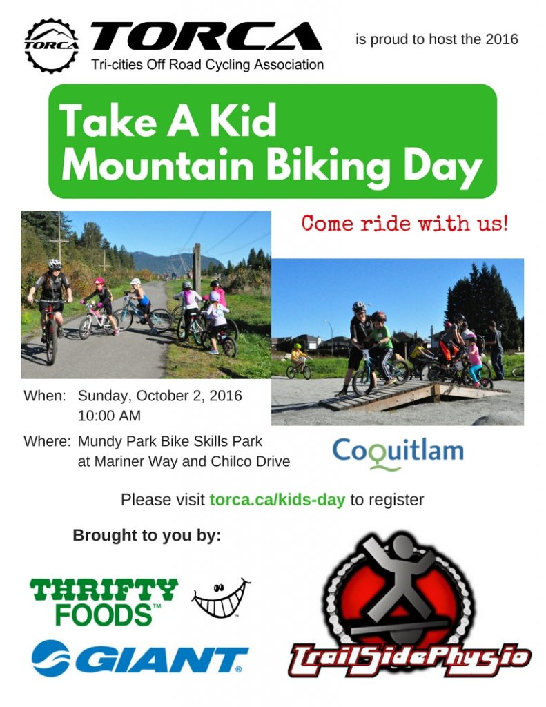 Take A Kid Mountain Biking Day